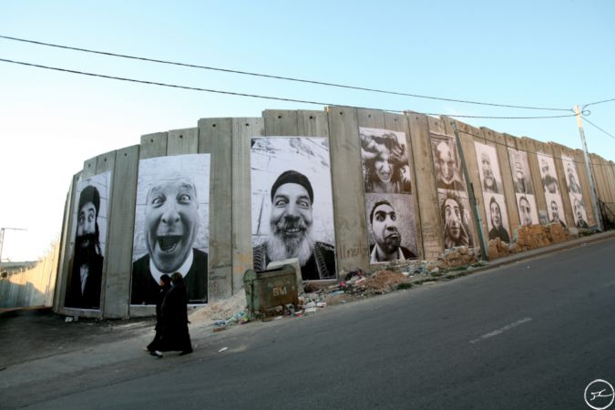 28 Millimeters, Face2Face Separation Wall, Palestinian Side In Bethlehem/ March 2007