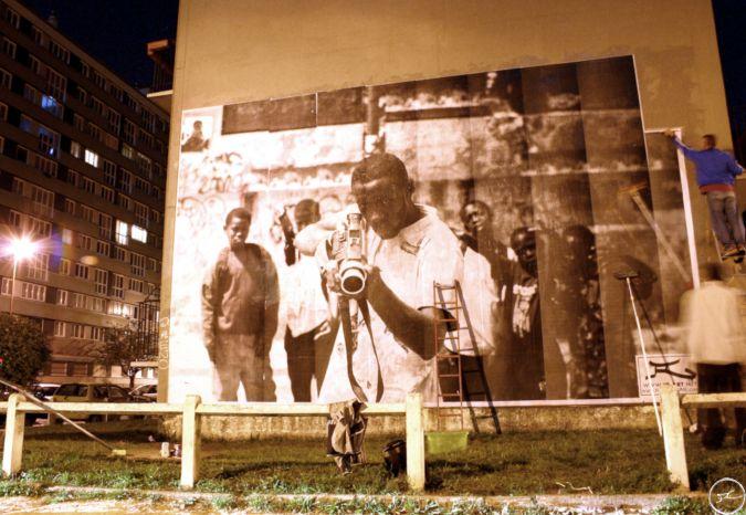 28 Millimeters, Portrait of a Generation / Collage Ladj Ly by JR, Montfermeil, Les Bosquets / 2004