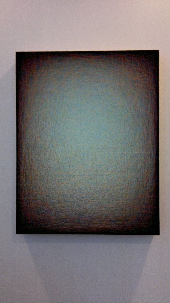 Emil Lukas , Moderate Cling, 2014 - ahşap ve ip - 91.4 × 71.1 × 8.9 cm